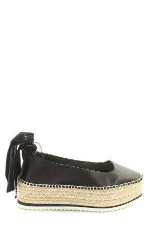 Zara Woman Espadrille sandalen zwart casual uitstraling