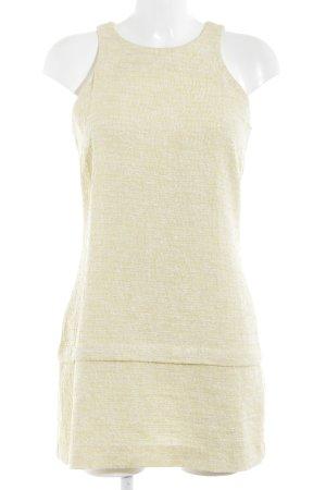 Zara Woman Etuikleid blassgelb meliert Business-Look