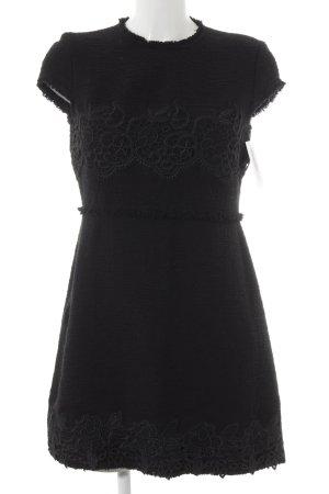 Zara Woman Etuikleid schwarz Romantik-Look