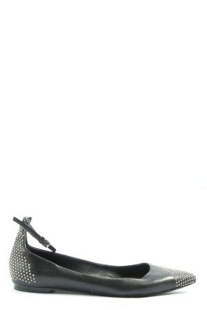 Zara Woman Opbouwbare ballerina's zwart-zilver casual uitstraling