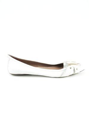 Zara Woman faltbare Ballerinas weiß Casual-Look
