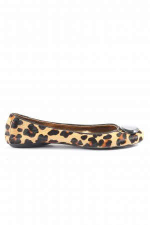 Zara Woman Bailarinas plegables estampado de leopardo look casual