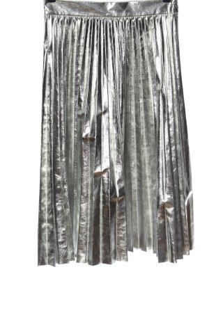 Zara Woman Plooirok zilver wetlook