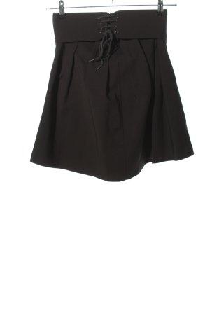 Zara Woman Faltenrock schwarz Casual-Look