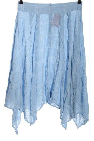 Zara Woman Faltenrock blau-weiß Karomuster Casual-Look