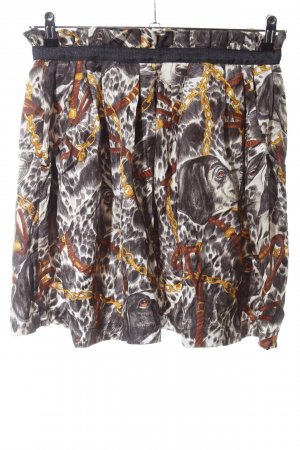 Zara Woman Faltenrock Allover-Druck Casual-Look