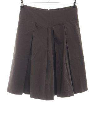 Zara Woman Faltenrock braun Business-Look