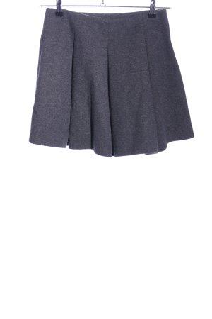 Zara Woman Faltenrock hellgrau meliert Casual-Look