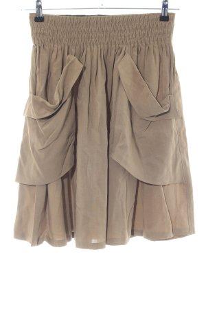 Zara Woman Faltenrock wollweiß Business-Look