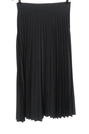Zara Woman Faltenrock hellgrau Casual-Look