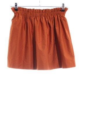 Zara Woman Faltenrock hellorange Casual-Look