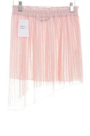 Zara Woman Faltenrock rosé Romantik-Look