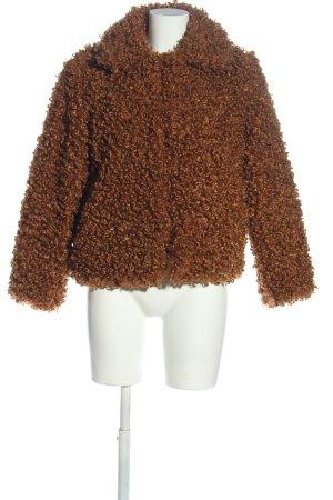 Zara Woman Felljacke braun Casual-Look