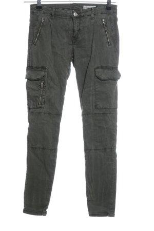 Zara Woman Five-Pocket Trousers khaki casual look