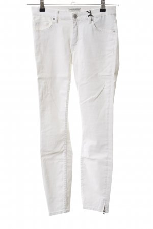 Zara Woman Five-Pocket-Hose weiß Casual-Look