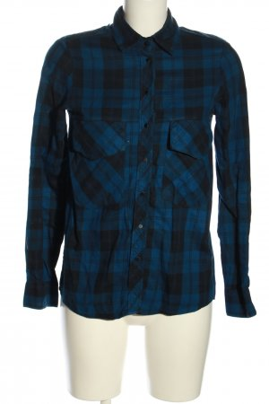 Zara Woman Flannel Shirt blue-black check pattern casual look