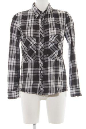 Zara Woman Flanellhemd schwarz-weiß Karomuster Casual-Look