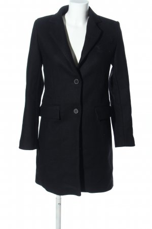Zara Woman Płaszcz polarowy czarny W stylu biznesowym
