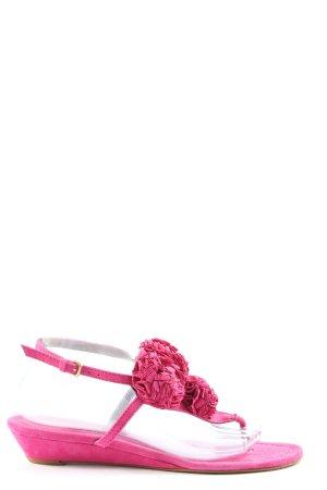 Zara Woman Flip-Flop Sandals pink casual look