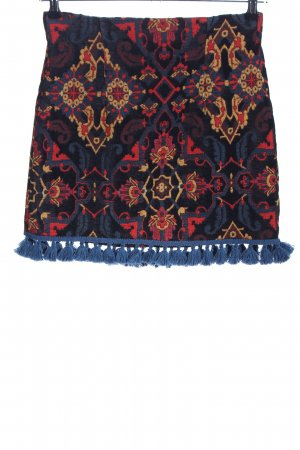 Zara Woman Fransenrock grafisches Muster Casual-Look