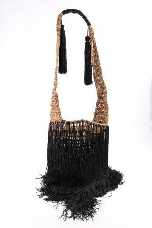 Zara Woman Fransentasche schwarz-nude extravaganter Stil