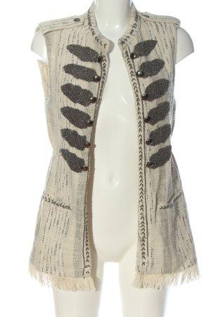 Zara Woman Fransenweste creme Casual-Look
