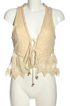 Zara Woman Blusenjacke creme Webmuster Casual-Look