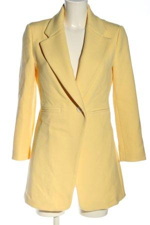 Zara Woman Gehrock blassgelb Business-Look