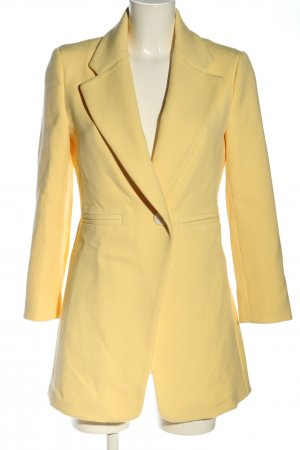 Zara Woman Surdut bladożółty W stylu biznesowym