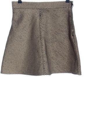 Zara Woman Glockenrock wollweiß-schwarz Allover-Druck Casual-Look