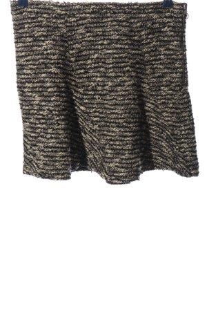Zara Woman Glockenrock creme-schwarz Casual-Look