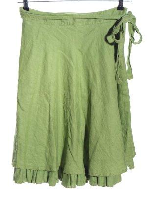 Zara Woman Flared Skirt green casual look