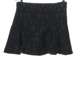 Zara Woman Falda acampanada negro Mezcla de patrones look casual