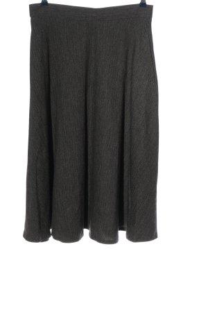 Zara Woman Glockenrock schwarz-wollweiß meliert Casual-Look