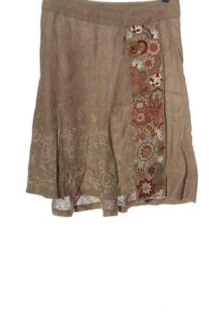 Zara Woman Glockenrock braun-rot Casual-Look