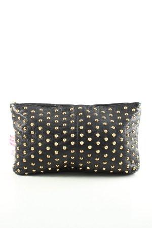 Zara Woman Handtasche schwarz-goldfarben Punktemuster Casual-Look