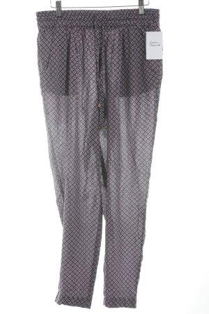 Zara Woman Haremshose abstraktes Muster Retro-Look