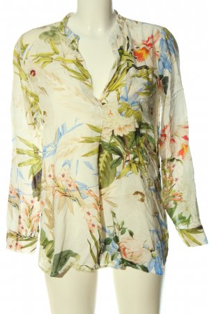 Zara Woman Hemd-Bluse abstraktes Muster Casual-Look
