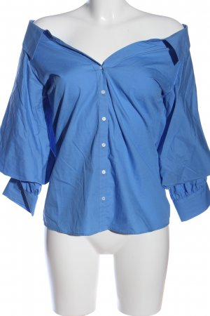 Zara Woman Hemd-Bluse blau Casual-Look