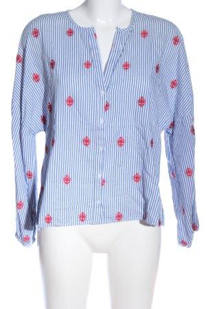 Zara Woman Hemd-Bluse rot-weiß Streifenmuster Casual-Look