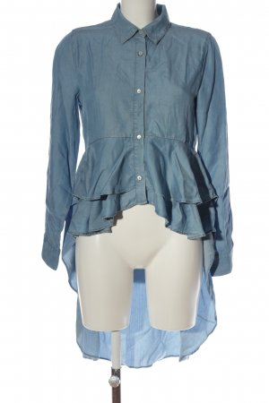Zara Woman Hemd-Bluse blau extravaganter Stil