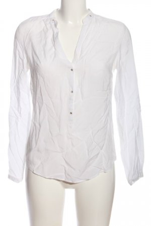 Zara Woman Hemd-Bluse weiß Business-Look