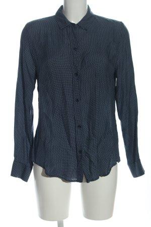 Zara Woman Hemd-Bluse schwarz-weiß Allover-Druck Business-Look