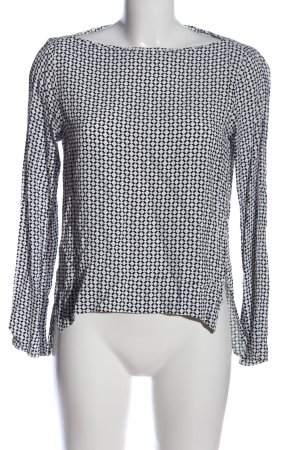 Zara Woman Hemd-Bluse Allover-Druck Casual-Look