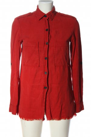 Zara Woman Hemd-Bluse rot Business-Look
