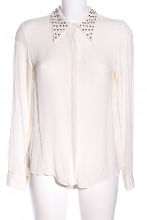 Zara Woman Hemd-Bluse wollweiß Casual-Look