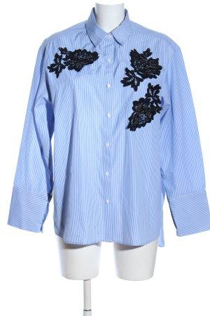 Zara Woman Hemd-Bluse Streifenmuster Business-Look