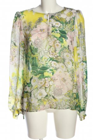 Zara Woman Hemd-Bluse Allover-Druck Casual-Look