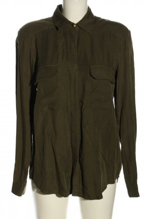 Zara Woman Hemd-Bluse khaki Business-Look