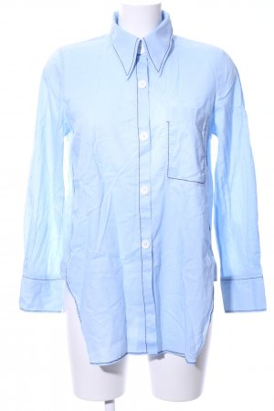 Zara Woman Hemd-Bluse blau Business-Look
